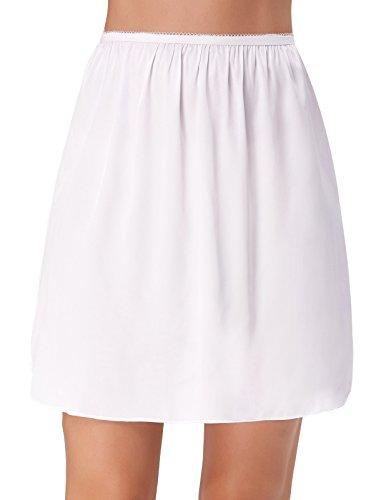 Kate Kasin Women's Lingerie Underskirts Stain Half Slips White Small KK265-2