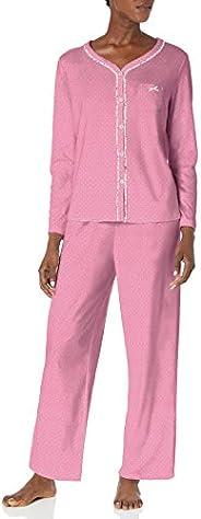 Karen Neuburger Womens Pajamas Long Sleeve Cardigan and Bottom Pj Set Pajama Set