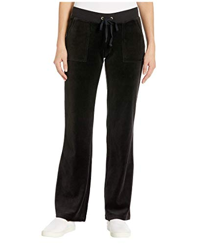 Juicy Couture Del Rey Velour Pants Pitch Black XL (US 14) from Juicy Couture