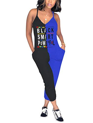 (Women's Cute Capri Jumpsuits - Casual Racerback V Neck One Piece Outfits Large (Label X-Large) Black and)