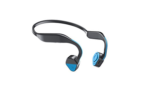 Bone Conduction Headphones Sports Headphones Waterproof Bluetooth 4.1 Wireless Earbuds Open Ear Neck Headset Earphones with Mic for iPhone, Android Smartphone Tablet ()