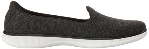 Skechers Performance Damen Go Step Lite Slip-On Wanderschuh Schwarz / Weiß Heather