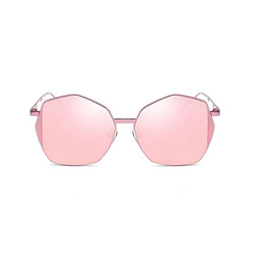 Winwintom de con sol Marco Gafas irregular clásico vintage espejo Rosa estilo forma de vqTPEvw