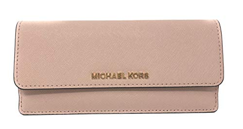 Set Wallet Leather - Michael Kors Jet Set Travel Flat Saffiano Leather Wallet (Ballet Pink)