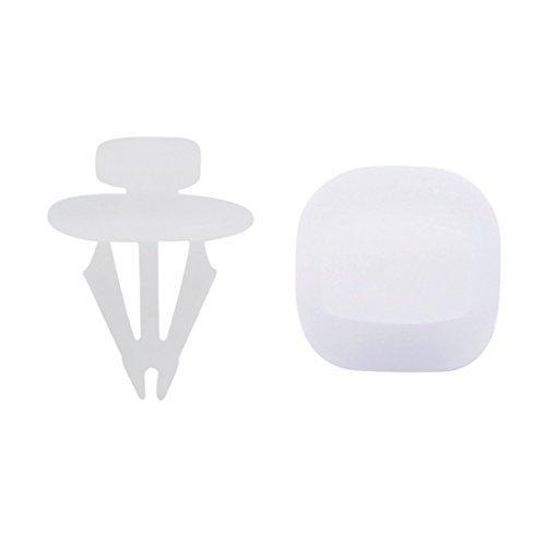 Amazon.com: eDealMax 50Pcs Blanca cuadrada de plástico Remaches Panel Sujetador Universal Clips de fijación DE 6 mm: Automotive