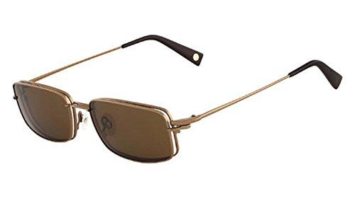 FLEXON FLX 901 MAG-SET Eyeglasses 210 Brown Demo Lens 5218 ()