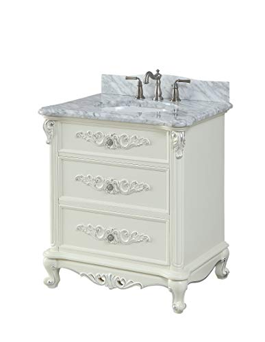 "32"" Benton Collection Verondia Antique Style Vanilla Beige Bathroom Vanity ()"