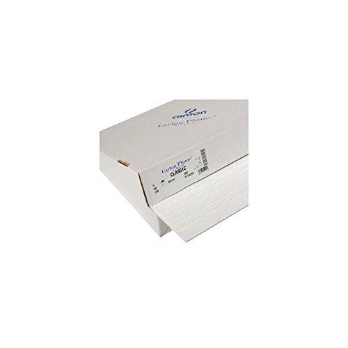 Canson 132606 - Fogli di cartone piumma 70x100mm bianco, pacco di 24 fogli