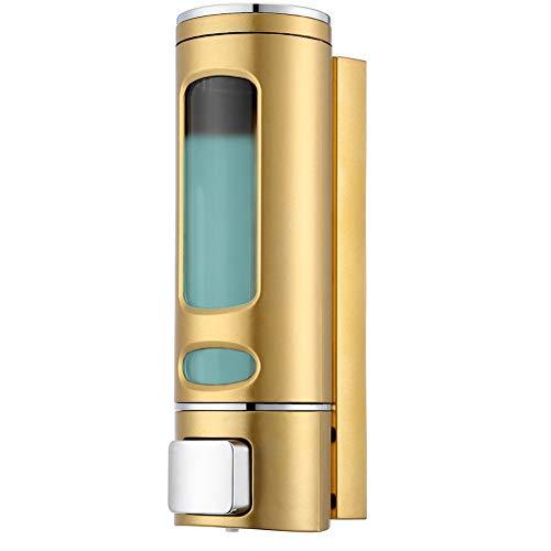Coopts 400ml Liquid Soap Dispenser Wall Mount Hand Soap Dispenser for Sink Bathroom Washroom Hotel Shower Bath with a Lock - Gold