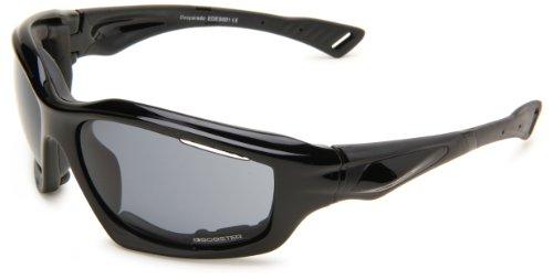 Bobster Desperado Square Sunglasses, Black Frame/Smoked Anti-Fog Lens with Foam (Womens Bobster Sunglasses Motorcycle)