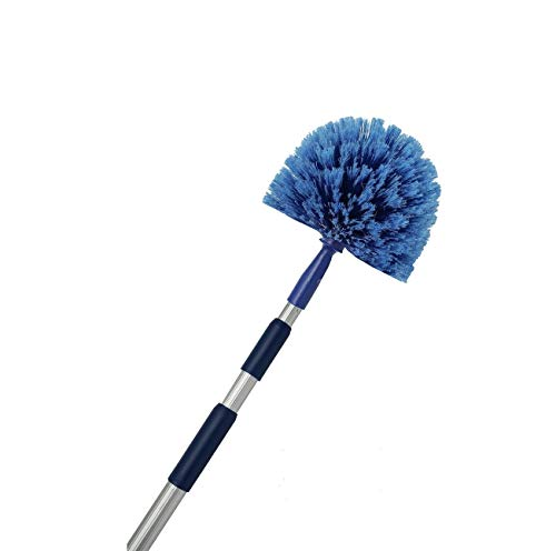 - Cobweb Duster, Extendable Reach 20 feet, Ceiling Fan Duster | 3-Stage Aluminum Telescoping Pole | Medium Stiff Bristles | Long Handle Webster Duster For Cleaning | U.S Duster Co.