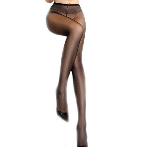 - ❤️ Women's Ultra Silky Flash Seamless Sheer Tights Pantyhose-Ultra Thin Panty Stockings (black)