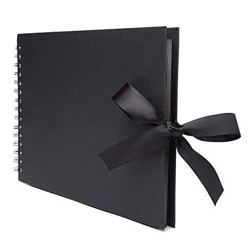VEESUN Album de Fotos Scrapbook, 50 Páginas Negras (100 Hojas), 20x20cm DIY Scrapbooking Album Original para Aniversario de Boda Cumpleaños Navidad ...