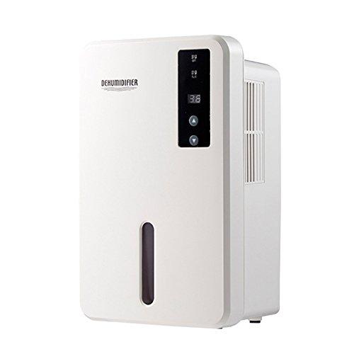 Cheap FociPow Portable Mini Dehumidifier, 2200 Cubic Feet (376 Sq.ft) Large 1.5L Tank Capacity Compact Dehumidifier Fit for Bathroom Home Closet Basements (White)