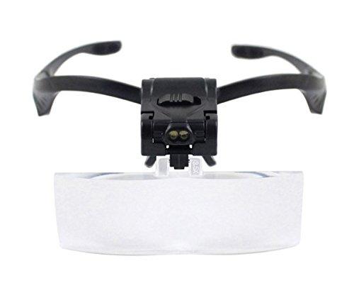 Dermastil - Occhiali con lenti d'ingrandimento e luce a LED, per l'allungamento delle ciglia, 5 lenti