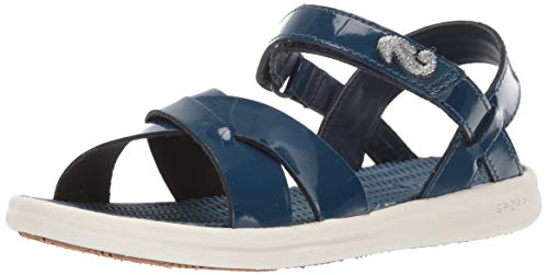 SPERRY Girls' Spring Tide Sandal, Navy Patent 010 Medium US Little Kid (Kids Blue Tide Apparel)
