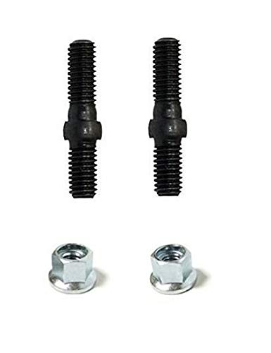 V224000031 / 43301903933 OEM Genuine Echo Bolts(2) and Nuts(2) Chainsaw Guide Bar Studs Bolts for CS-302 CS-300 CS-301 CS-3000 and E-Book in A Gift ()