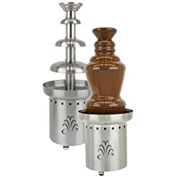 "Buffet Enhancements 1BMFCF27E24 240V 50 Hz 3 Tier Chocolate Fountain, 27"", Stainless Steel"