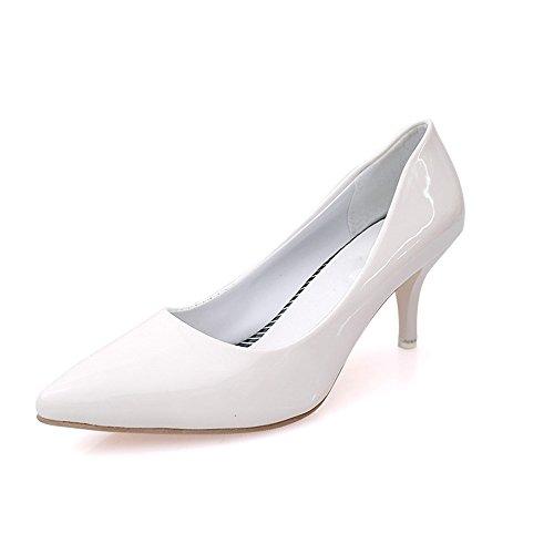 LIVY 2017 del párrafo del verano señaló los zapatos de la boca baja de los zapatos de las mujeres solteras 6cm finos con la tendencia de los zapatos de tacón alto Blanco