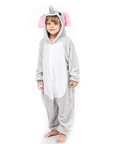 yolsun Animal Onesie Pajamas, Kids Cute Animal Costume for Winter (7-8y(Suggest 51