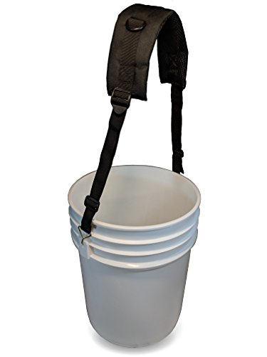 - 5 Gallon Bucket Shoulder Carrying Strap - Replacement for Wire Handle