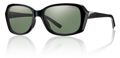 Smith Facet Sunglasses - Women's - Polarized ChromaPop Black/Gray Green, One - Sunglasses Facet Smith