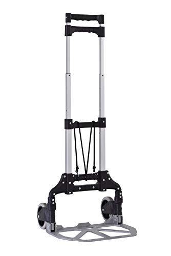 Muscle Carts SFHT1511-BLK Folding Hand Truck Dolly, 120 Lbs Capacity, 120 Pounds Load Capacity, 33