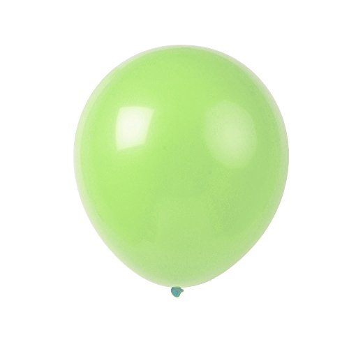 Topenca Party Supplies, 12 Inches Solid Latex Balloons, 50 Pack, Light Green