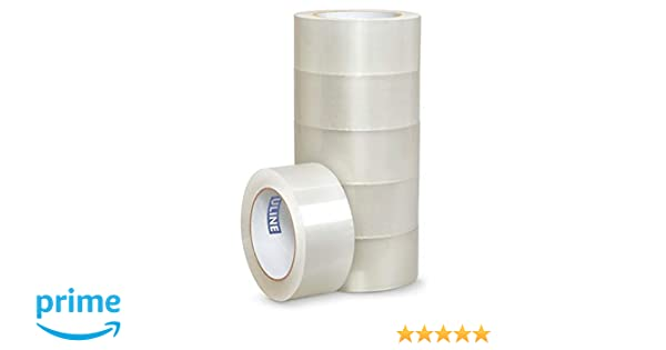 Uline S-1893 Tape Packing and Shipping Clear 3 Inches Wide by 55 Yards Long 2.6 Mil 1 Per Order