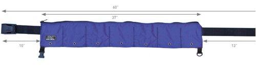 XS Scuba Zippered 7 Pocket 35lb Weight Belt (Black) ()