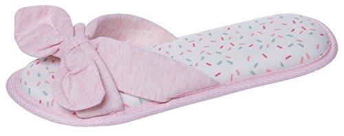 Slingeraars Open Teen Damespantoffels Comfortabele Katoenen Voering Antislip Memory Foam Indoor Outdoor Schoenen Roze