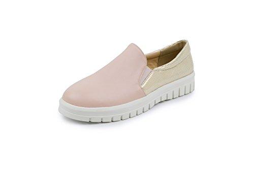 Zapatillas Para Caminar De Uretano Sin Cierre De Colores Variados Para Mujer Balamasa Rosa