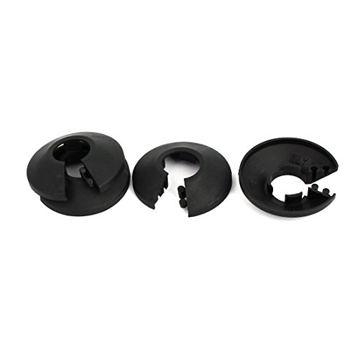 uxcell 16mm Plastic Wall Flange Radiator Water Pipe Cover Collar Black (Black Radiator Cover)