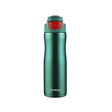 Contigo Autoseal Trainer FIT Stainless Steel Water Bottle 20-ounce 18 Hours Cold Cockatoo