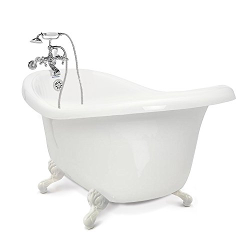 American Bath Factory CC-SC-B-WH, Chelsea Collection Slipper Tub Package