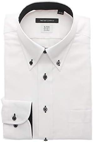 (ザ・スーツカンパニー) COOL MAX/ボタンダウンカラードレスシャツ 織柄 〔EC・BASIC〕 ホワイト