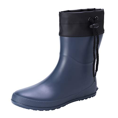 Asgard Women's Short Rain Boots Mid Calf Collar Garden Shoes Ultra Lightweight Snow Boots BL36