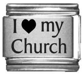 I Heart my Church Laser Etched