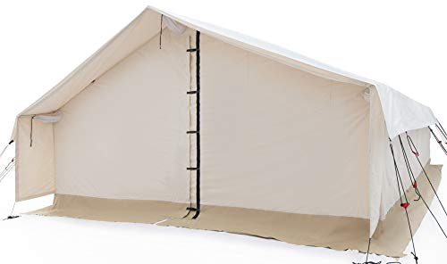 White Duck Outdoors Complete Canvas Wall Tent with Aluminum Frame and PVC Floor for Elk Hunting, Outfitter and Camping, 16'X20' Water Repellent