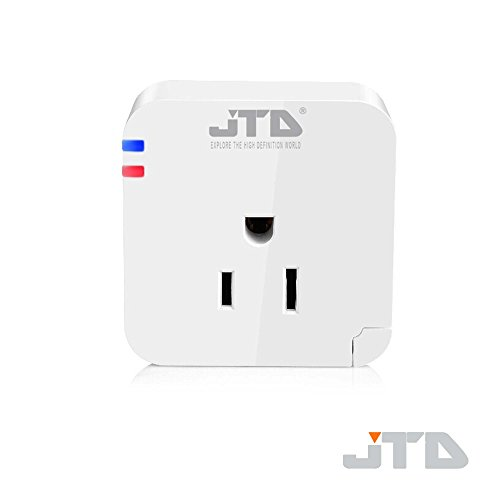 JTD ® Wifi Smart Plug for Iphone Ipad Android Smartphone Plug Wireless Switch Smart Plug Wifi Socket, Control Your Electronics From Anywhere with the Home Automation App for Smartphones and Tablets