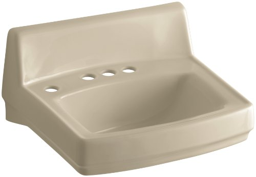 KOHLER K-2032-NL-33 Greenwich Wall-Mount Bathroom Sink with 4