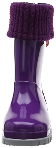 Toughees Roll Top Welly, Unisex-Kinder Stiefel Violett (Purple/Grey)