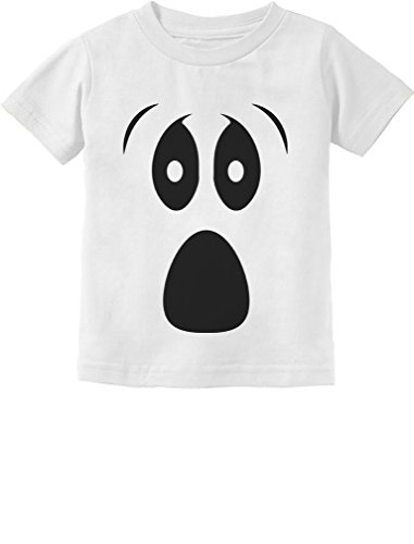[TeeStars - Halloween Ghost Costume Funny Ghoul Face Toddler/Infant Kids T-Shirt 4T White] (Ghost Baby Halloween Costume)