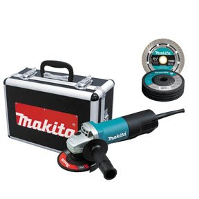MKT9557PBX1 Makita 9557PBX1 4-1/2 in. y1a362a8e Paddle Switch AC/DC Angle Grinder with Case and Grinding Wheels niovoi 9w218h1ljs 34ertpan Small circumference barrel grip for