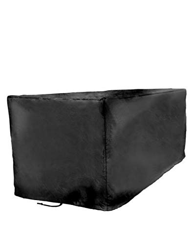 Sturdy Covers Deck Box Defender Cover – All-Season Outdoor Deck Box Cover Black, Large