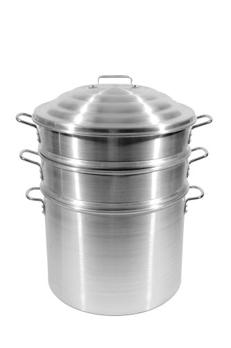 Town-Food-Service-16-Inch-Aluminum-Steamer-Set