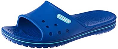 Crocs Unisex Adults Crocband II Slide, Blue Jean/Pool , M4W6
