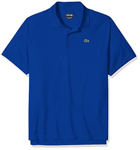 Lacoste Men's Sport Short Ultra Dry Raglan Sleeve Polo, Steamer, Large (Raglan Tennis Shirt)