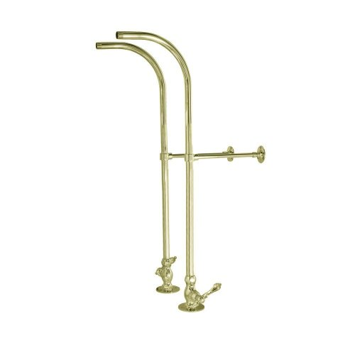 Elizabethan Classics Freestanding Supplies With Metal Lever Handles In Polished Brass by Elizabethan Classics