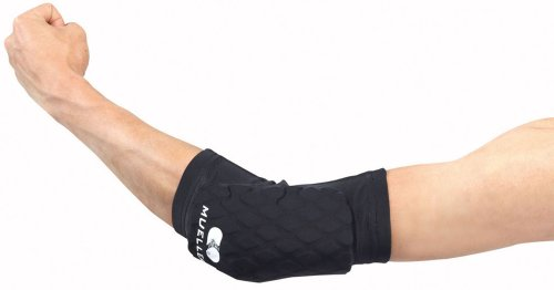 Mueller Diamond Pad Elbow Knee Shin, Black, Medium, 12-15 Inch